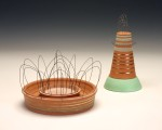 2012 Red Earthenware, Glass, Wire, Luster
